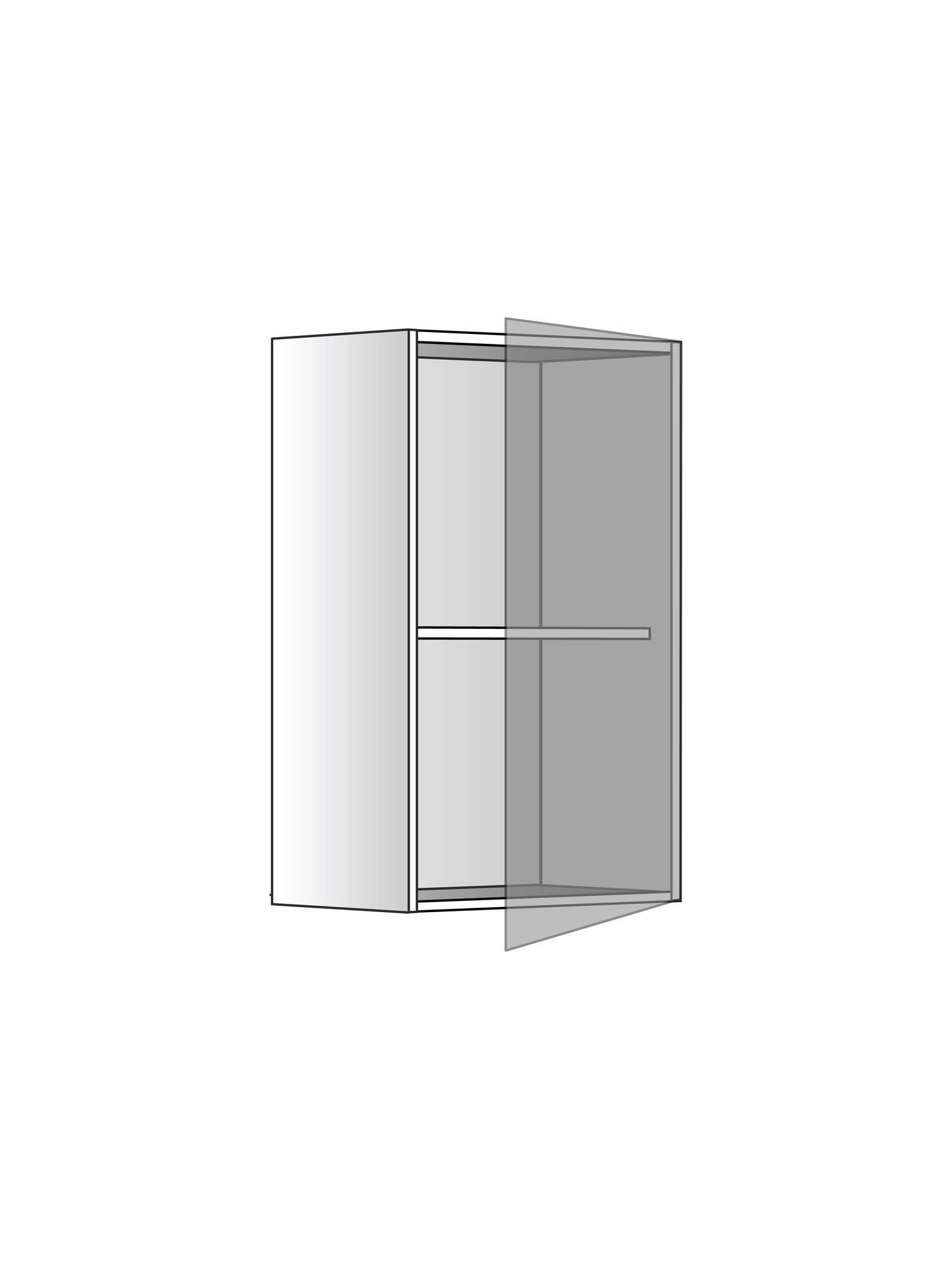 Верхний шкаф c одной полкой, 720Х400 мм