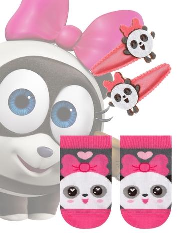 Детские носки Малышарики 17С-26СП (с заколками для волос) рис. 262 Conte Kids
