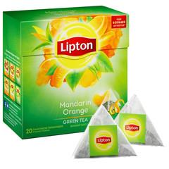 Чай Lipton Green Mandarin Orange зеленый 20 пакетиков