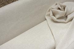 Ткань льняная смягченная, меланж на белом фоне