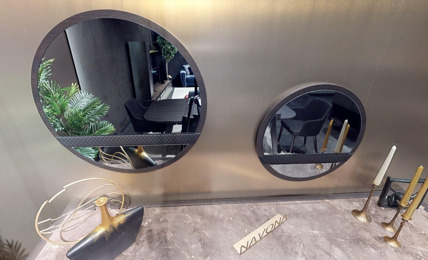 Зеркала NAVONA темный орех