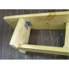 Скамейка гимнастическая на деревянных ножках 4м (массив дерева)