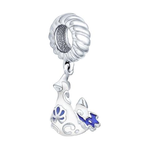 Подвеска-шарм из серебра с эмалью
