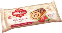 "Рулет ""Яшкино"" бисквитный клубника со сливками, 200 г"