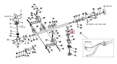 Кронштейн крепления румпеля для лодочного мотора T2 SEA-PRO