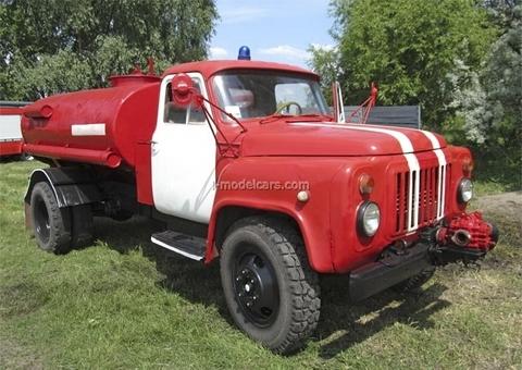 GAZ-52 ACU-10 fire engine 1978 collective farm Peremoga 1:43 DIP