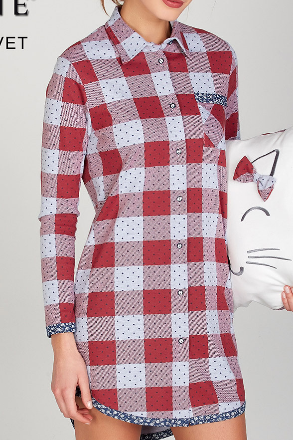 Домашняя рубашка в клетку DiBen