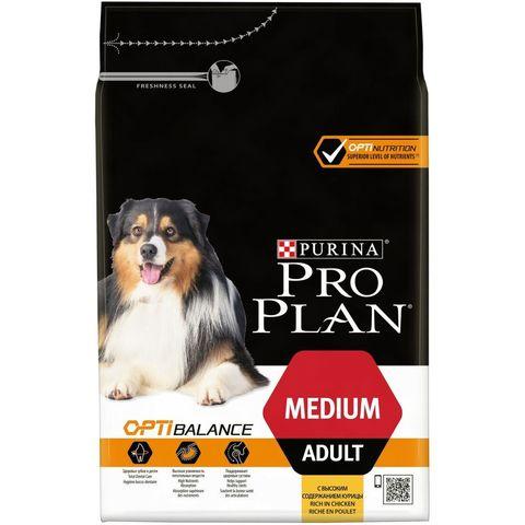 Pro Plan сухой корм для взрослых собак средних пород (курица) 3 кг
