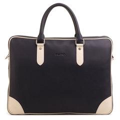 м21394 Fiato  кожа  синий/бежевый (сумка мужская)
