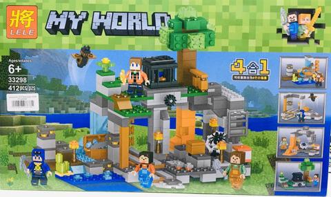 Конструктор LELE  33298 Minecraft Добыча руды 4 в 1  412 дет.