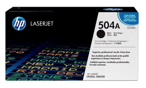 Оригинальный картридж HP CE250A 504A черный