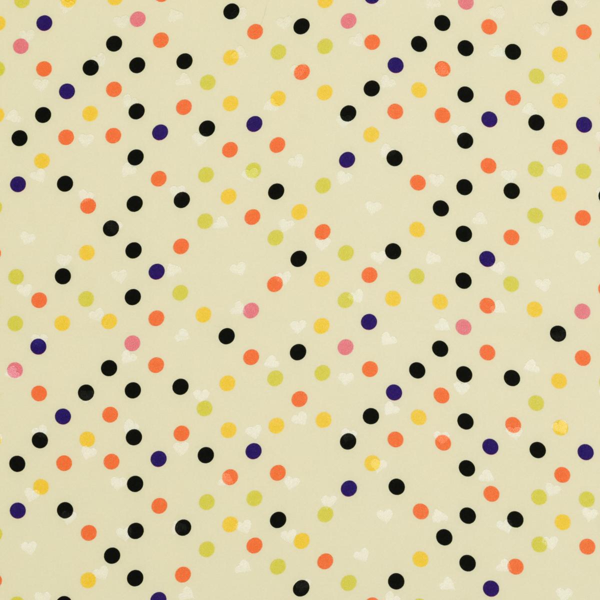 Плательно-блузочный шёлковый жаккард жёлтого цвета в горох