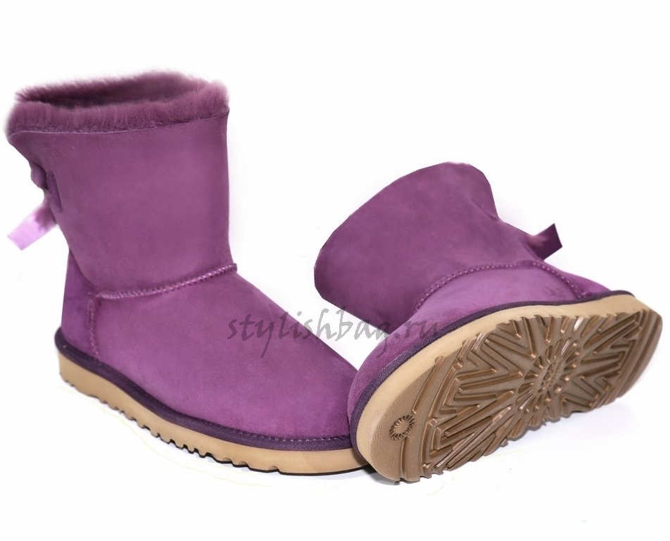 Женские угги UGG Bailey Bow Mini Purple