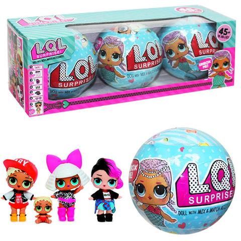 Кукла-сюрприз в шарике LOL Surprise (2-я серия) Набор из 3-х шт.