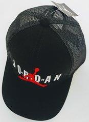 Модные летние кепки с сеткой сзади Jumpman RN56323 Black.