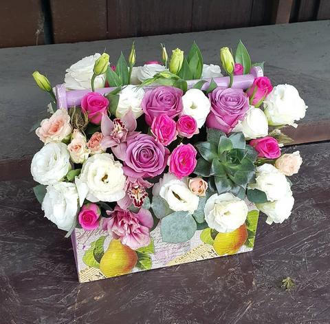 Ящик с цветами весенний 5