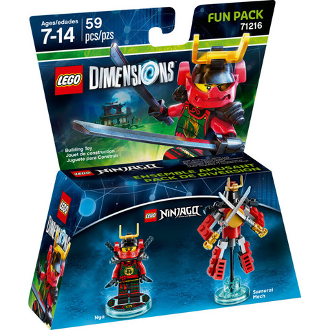 LEGO Dimensions: Fun Pack: Ниндзяго - Ния 71216 — Nya — Лего Измерения