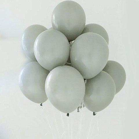 Воздушные шары с гелием серые