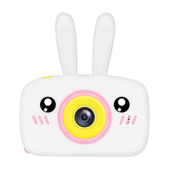 Фотоаппарат детский SmileZoom Зайчик без селфи-камеры / Белый