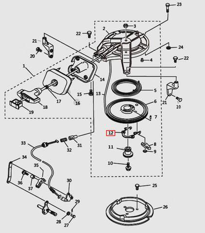 Пружина стопора-упора для лодочного мотора T9.8 Sea-PRO (7-12)