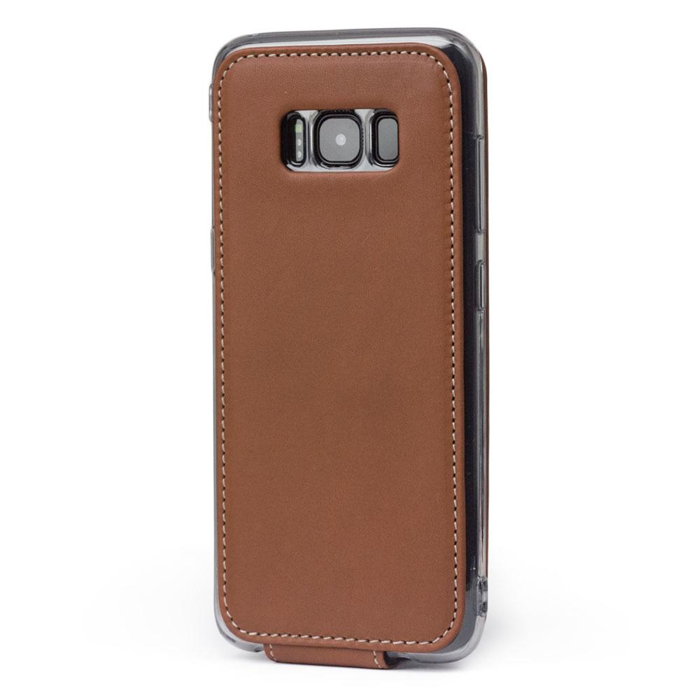 Чехол для Samsung Galaxy S8 Plus из натуральной кожи теленка, коричневого цвета