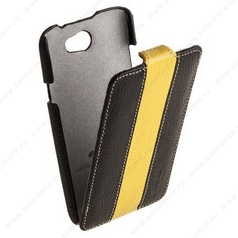 Чехол-флип Melkco для HTC One X Limited Edition Jacka Type (Black/Yellow LC)