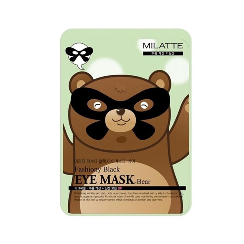 Маска медведь - Milatte Fashiony Black Eye Mask Bear