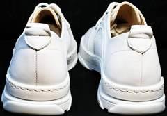 Спортивного стиля женские летние туфли из натуральной кожи Derem 18-104-04 All White.