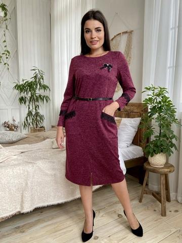 Камелия. Красивое женское платье больших размеров. Бордо