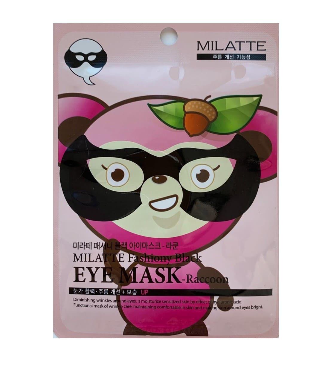 Маска енот - Milatte Fashiony Black Eye Mask Raccoon
