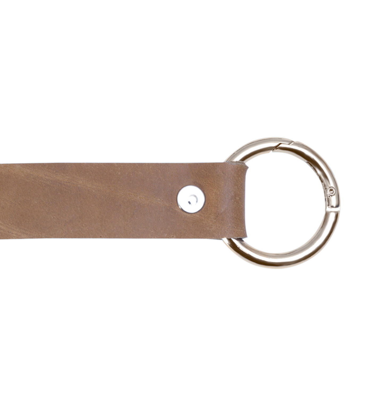 Кожаная фурнитура Ручка кожаная с кольцами-карабинами песочная IMG_9290-2.jpg