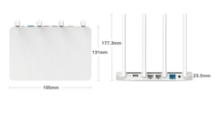 Xiaomi Mi WiFi Router 3 AC1200 (White-Белый)