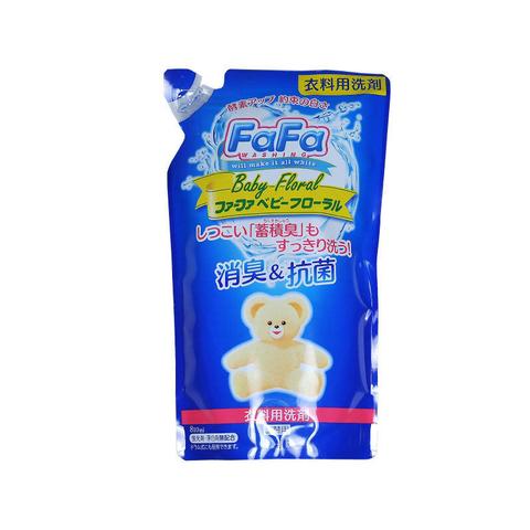 Жидкое дезодорирующее средство для стирки детского белья Nissan FaFa Baby Floral 810 мл