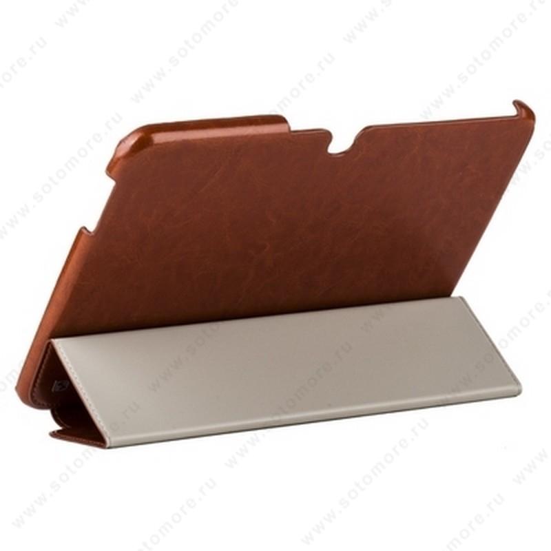 Чехол-книжка HOCO для Samsung Galaxy Tab 3 10.1 P5200/ P5210 - HOCO Crystal series Leather Case Brown