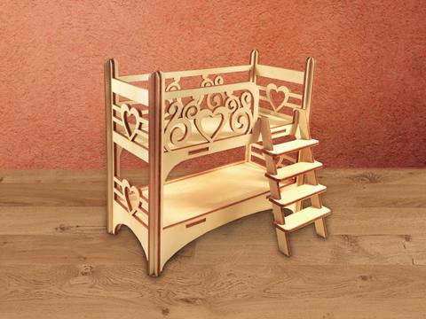Кроватка двухъярусная