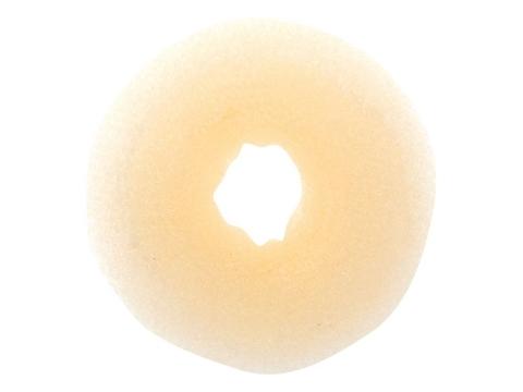 Валик круглый светлый, для волос сетка, d 10 см