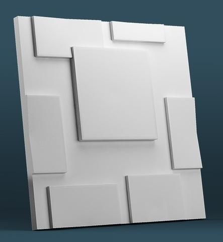 Декоративная гипсовая 3D панель КВАДРА-2