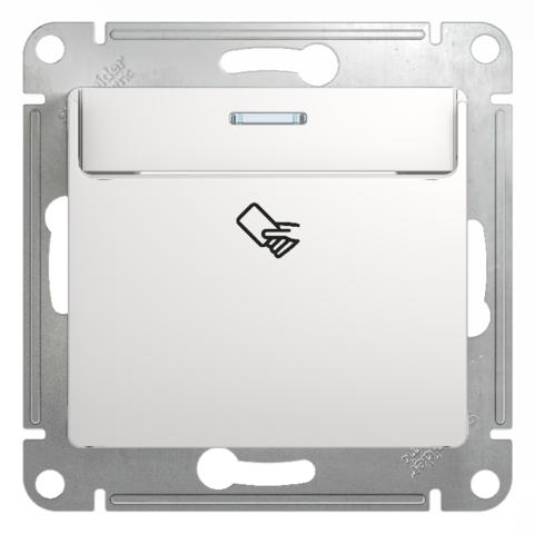 Карточный выключатель. Цвет Белый. Schneider Electric Glossa. GSL000169