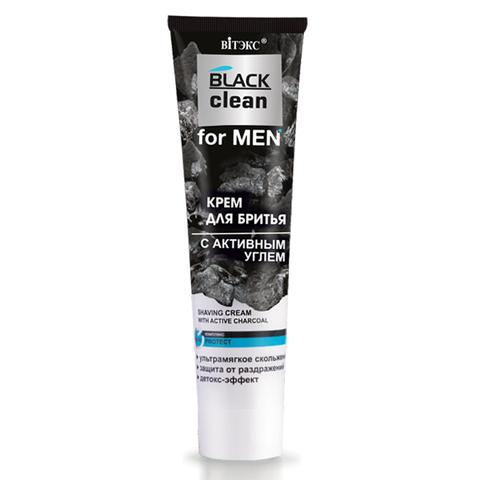 Витэкс Black Clean for Men Крем для бритья с активным углем 100 мл