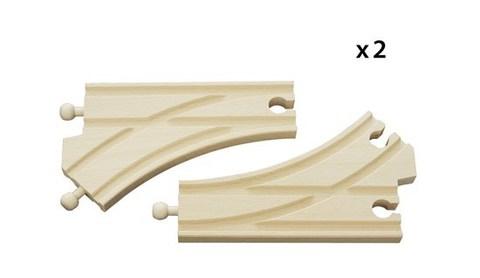 BRIO Ж/д стрелки, длина 14.4см, 2 элемента