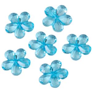 Декоративные бусины Цветы голубые 2,1см 20шт