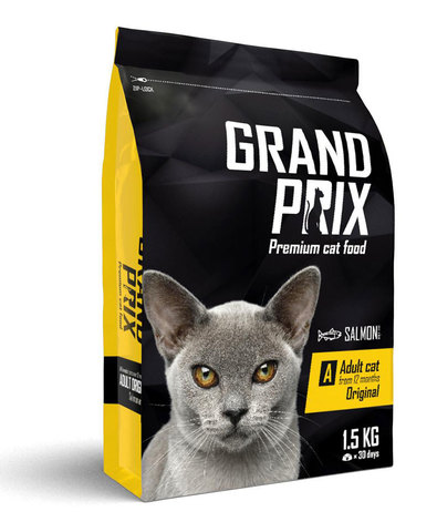 Grand Prix Adult Original сухой корм для кошек с лососем 1,5 кг