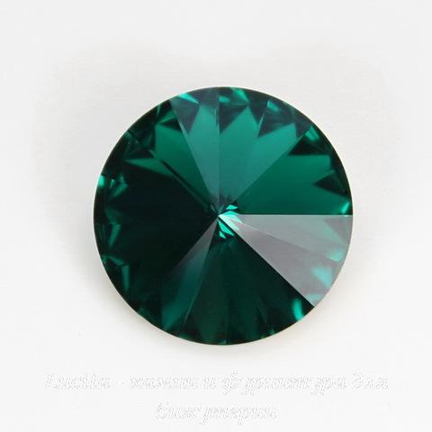1122 Rivoli Ювелирные стразы Сваровски Emerald (SS47) 10,54-10,9 мм (1)