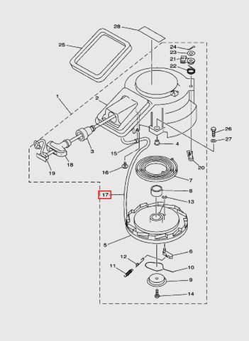 Веревка стартера L1800 для лодочного мотора T15, OTH 9,9 SEA-PRO (7-17)