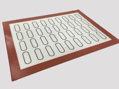 Коврик силиконовый армированный, с разметкой для мини-эклеров, 30х40 см