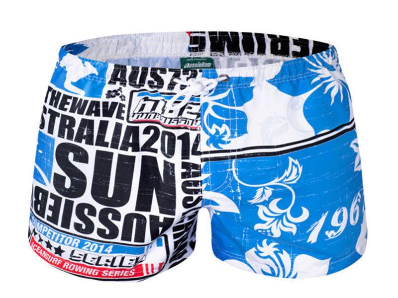 Мужские шорты пляжные голубые Aussiebum Scent Coast Shorts Blue