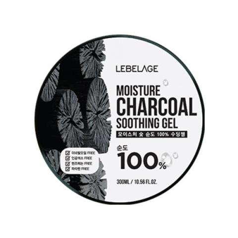 Гель с углем увлажняющий успокаивающий Lebelage Moisture Charcoal 100% Soothing Gel 300мл
