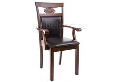 Стул деревянный Кресло Луиза (Luiza) dirty oak / dark brown