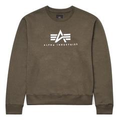 Свитшот Alpha Industries Basic Logo Sweatshirt Женский (зеленый)