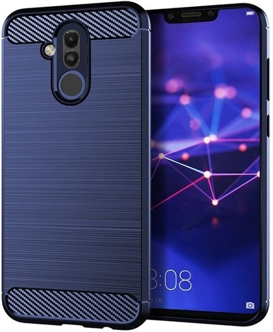 Чехол Huawei Mate 20 Lite цвет Blue (синий), серия Carbon, Caseport